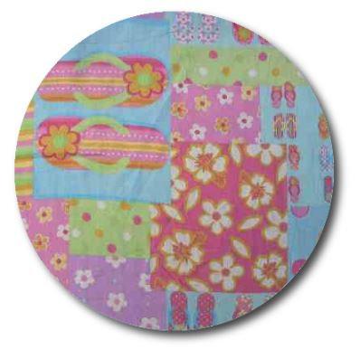 Circle pin board 'beach girl'