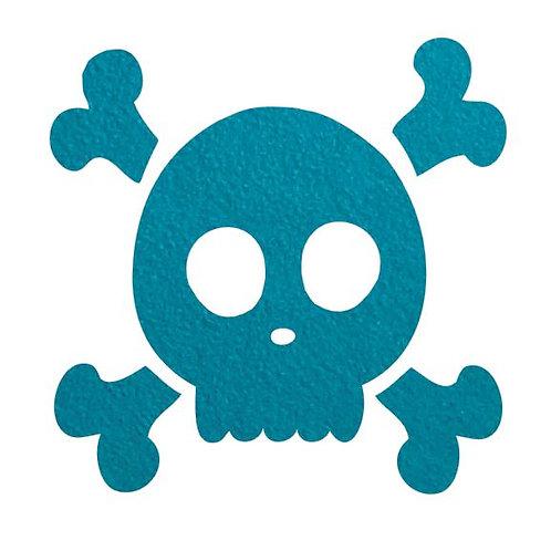Skull & Crossbones pin board - 'teal'