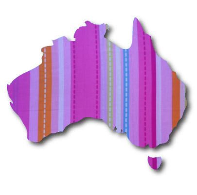 Australia Map pin board  - 'dash'