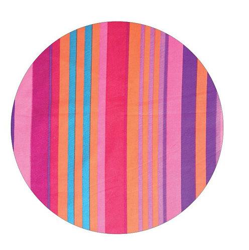 Circle pin board 'candy cane'