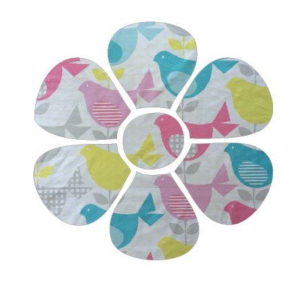 Flower pin board - 'birdie num'