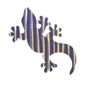 Gecko pin board - 'blue poles'
