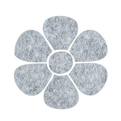 Flower pin board - 'grey fuzz'