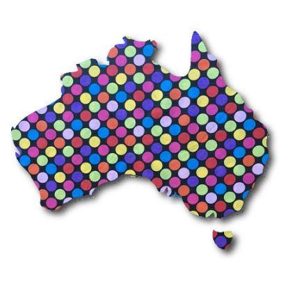 Australia Map pin board  - 'bling'