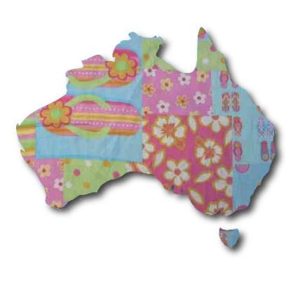 Australia Map pin board  - 'beach girl'