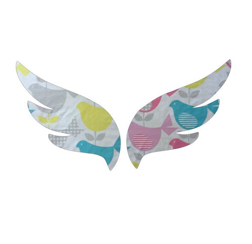 Pair of wings pin board 'birdie num'