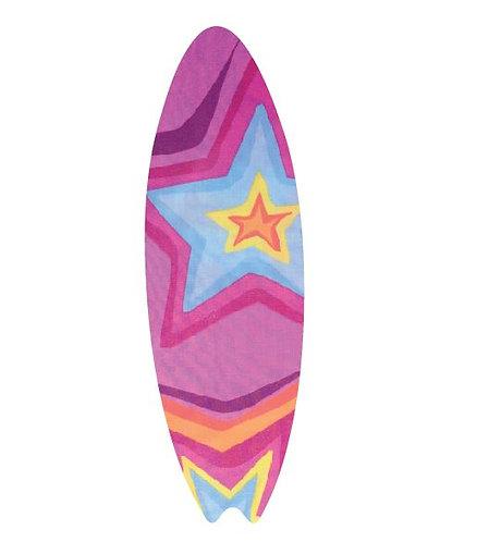 Surfboard pin board - 'star burst'