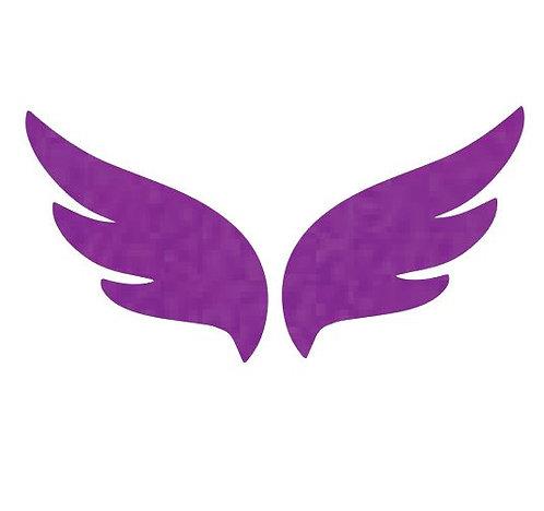 Pair of wings pin board 'purple'