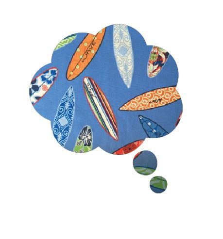 Thought bubble -'surferini sky'