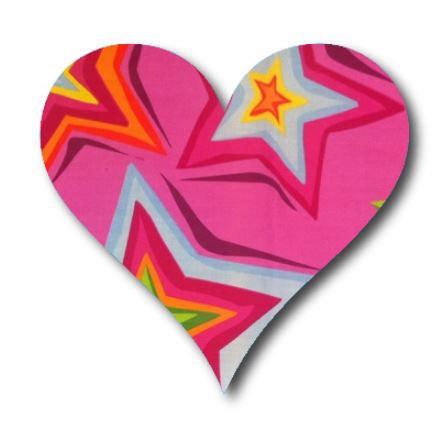 Heart pin board - 'starburst'