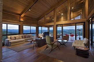 A large open plan space with timber walls and lining. Inspiring interior spaces.