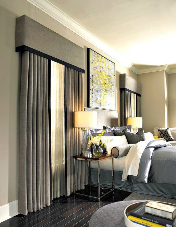 valance curtains or cornice blinds