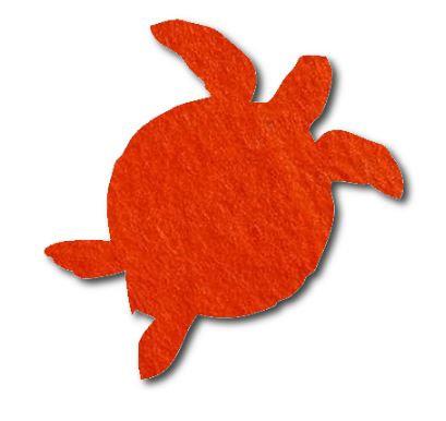 Turtle pin board - 'tangerine'