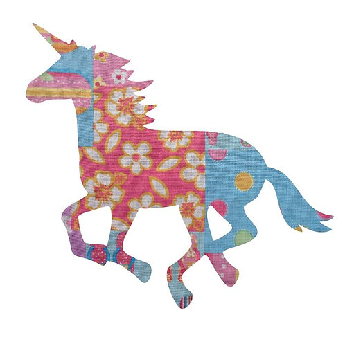 Unicorn or horse pin board - 'beach girl'