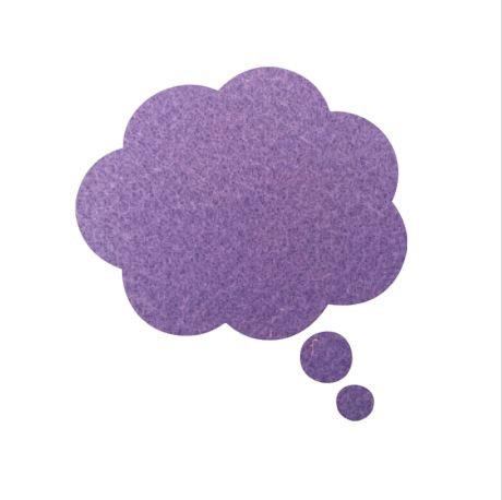 Thought bubble -'mauve'