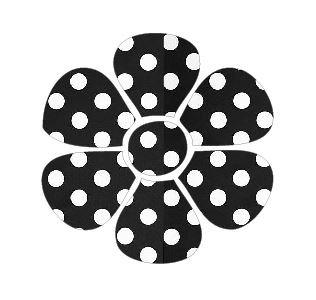 Flower pin board - 'dotty'