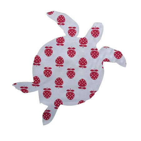 Turtle pin board - 'strawberry'