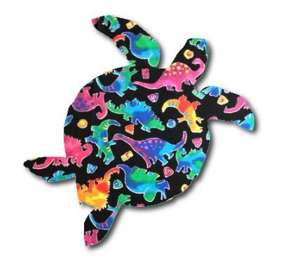 Turtle pin board - 'disco dino'