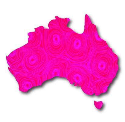 Australia Map pin board  - 'puddle'