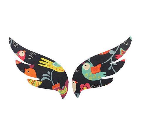 Pair of wings pin board 'birdie'