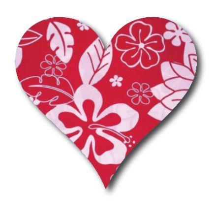 Heart pin board - 'hawaii'