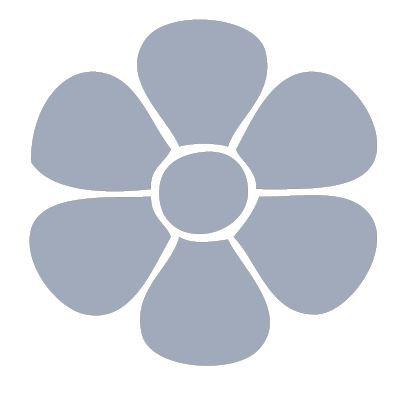Flower pin board - 'cool'