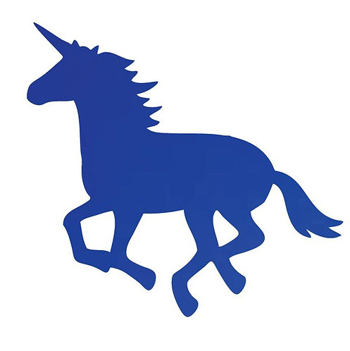 Unicorn or horse pin board - 'royal blue'