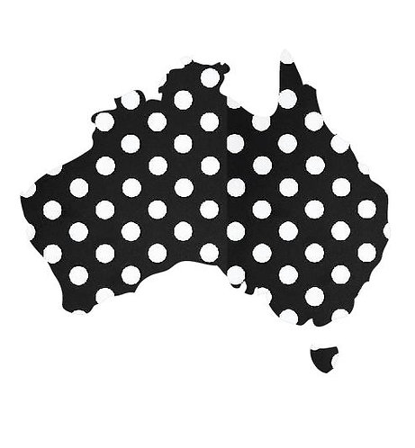 Australia Map pin board  - 'dotty'