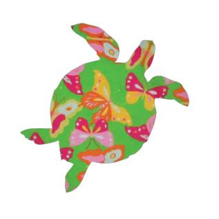 Turtle pin board - 'butterflies'