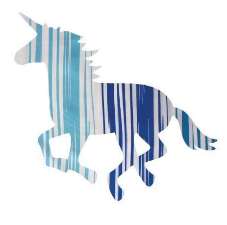 Unicorn or horse pin board - 'blue streak'