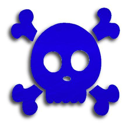 Skull & Crossbones pin board - 'royal blue'