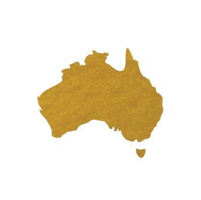 Australia Map pin board  - 'yellow'