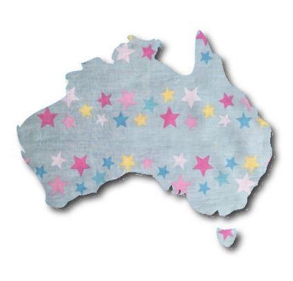 Australia Map pin board  - 'twinkle'