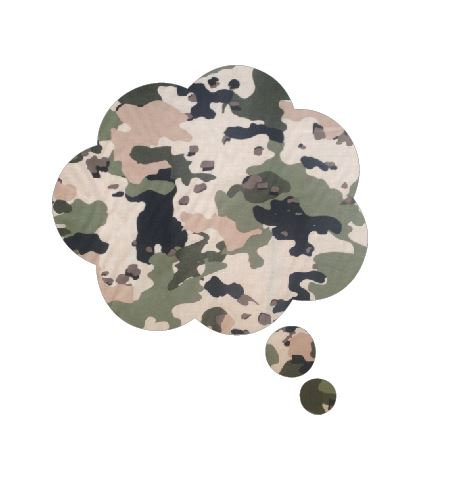 Thought bubble -'army issue'