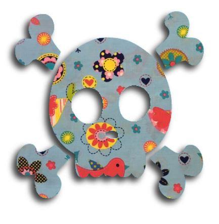 Skull & Crossbones pin board - 'happy place'