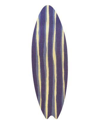 Surfboard pin board - 'blue poles'
