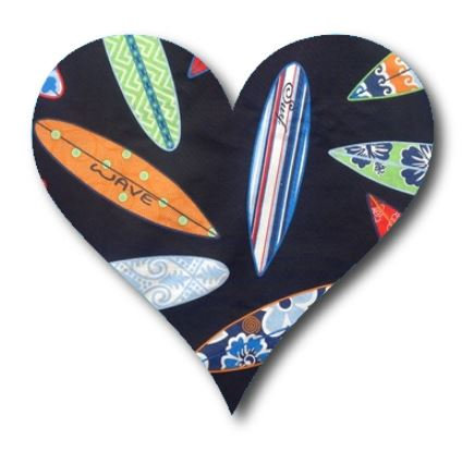 Heart pin board - 'surferini'
