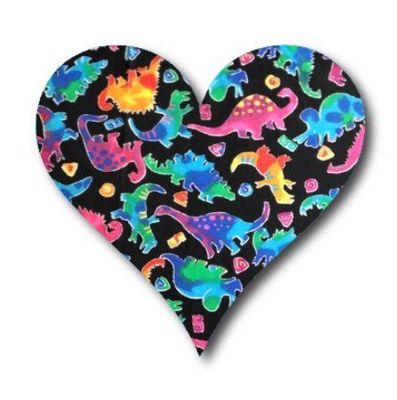 Heart pin board - 'disco dino'