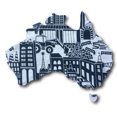 Australia Map pin board  - 'digger'