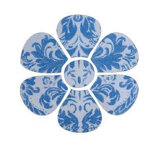 Flower pin board - 'china blue'