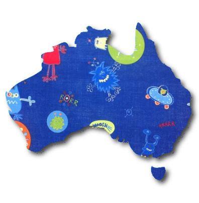 Australia Map pin board  - 'alien'