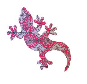 Gecko pin board - 'pink daisy'