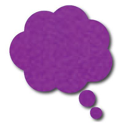 Thought bubble -'purple'
