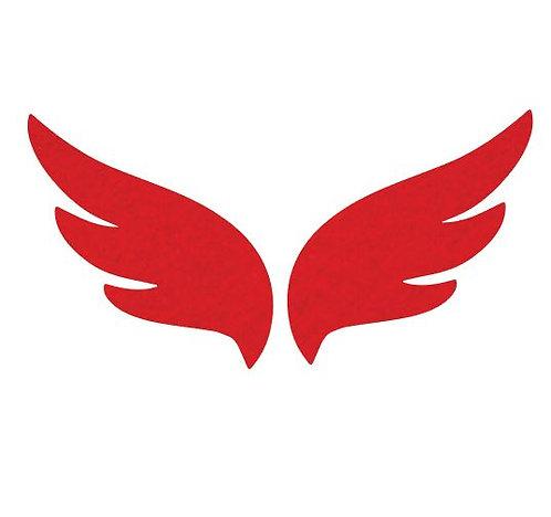Pair of wings pin board 'red'