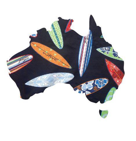 Australia Map pin board  - 'surferini'