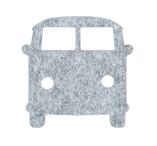 Kombi pin board - 'grey fuzz'