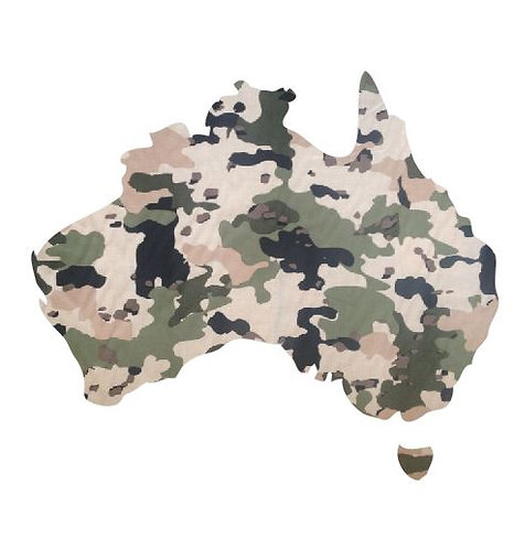 Australia Map pin board  - 'army issue'