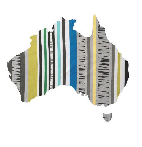 Australia Map pin board  - 'sticks'