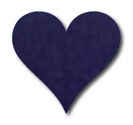 Heart pin board - 'navy'