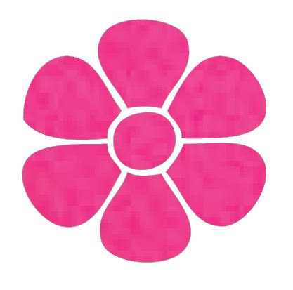 Flower pin board - 'hot pink'